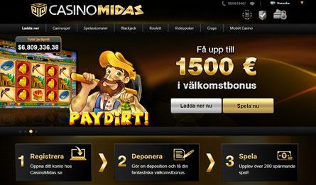 Casino Midas casino på nätet