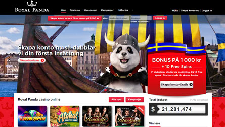Royal Panda casino på nätet