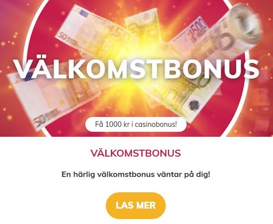 Klicka här och hämta din välkomstbonus nu hos Vinnarum! Högst utjämnad vinst.