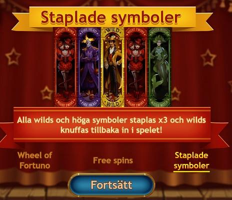 Exempel på staplade symboler i ett casinospel!