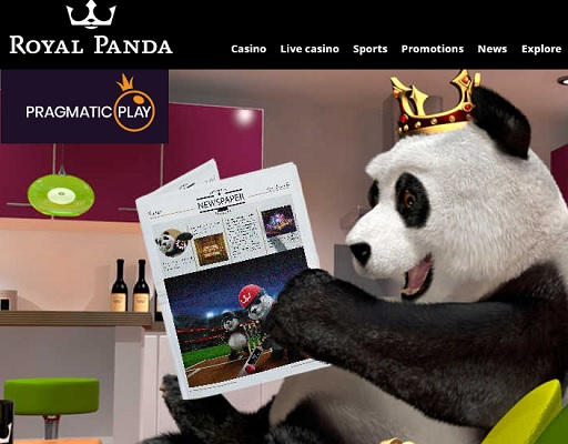 Royal Panda samarbetar med Pragmatic Play!